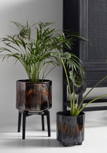 Nordal Hand Painted Stoneware  Planter