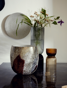 Nordal Riva Vase Transparent Grey