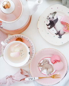 Yvonne Ellen Pastel Animal Cake Plates, Set Of 4