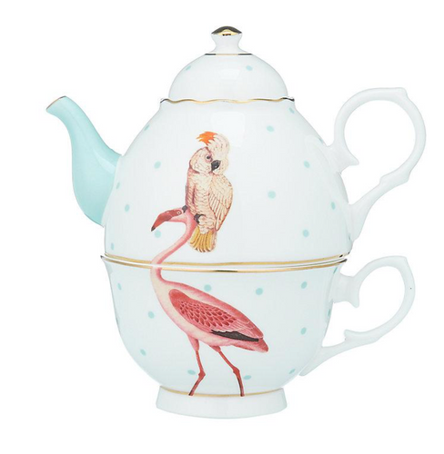 Yvonne Ellen Tea For One Set,  Flamingo