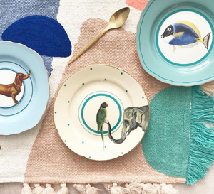 Yvonne Ellen Animal Cake Plates, Set Of 4