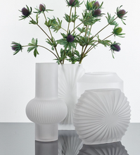 Bahne Frosted Glass Vase White Round