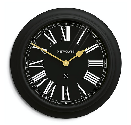 Newgate Chocolate Shop Wall Clock Cave Black