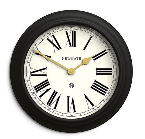 Newgate Chocolate Shop Wall Clock Cave Black / Cream Dial