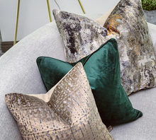Scatter Box Bellini Velvet Velour Cushion Emerald