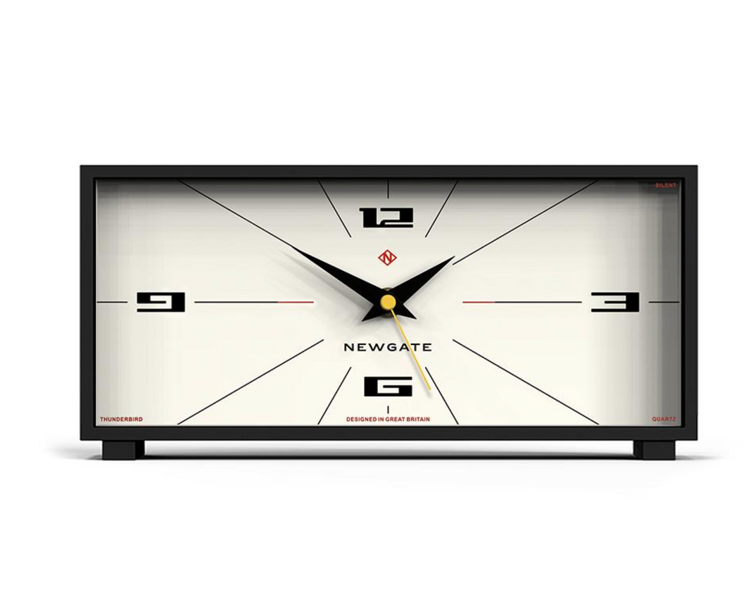Newgate Thunderbird Mantel Clock White
