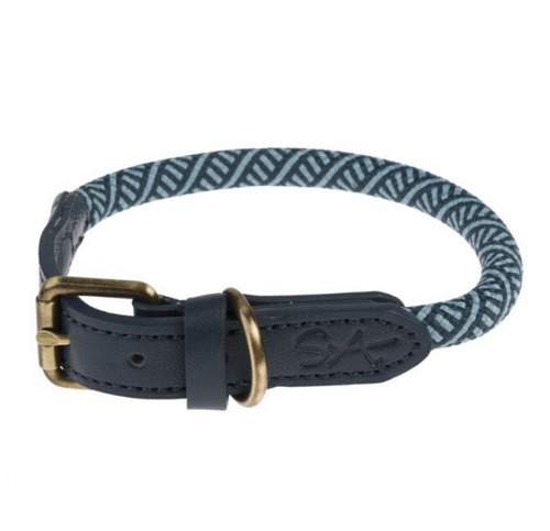 Sophie Allport Rope Dog Collar Teal