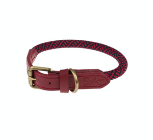 Sophie Allport Rope Dog Collar Red