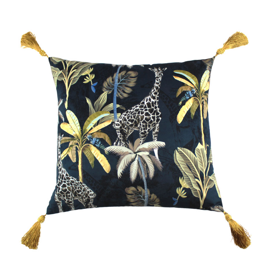 Scatter Box Simone Cushion Navy/ Gold
