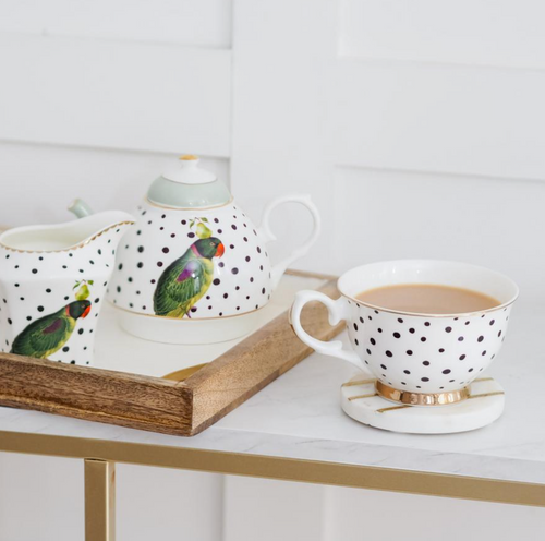 Yvonne Ellen Tea For one Set Parrot