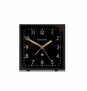 Newgate Cubic Alarm Clock  Gravity Grey
