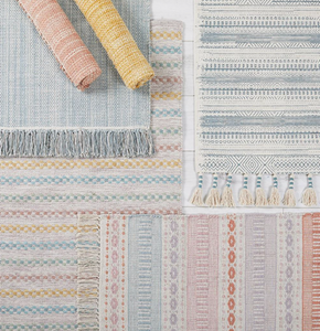 Walton & Co Chambray Cotton Rug  Terracotta