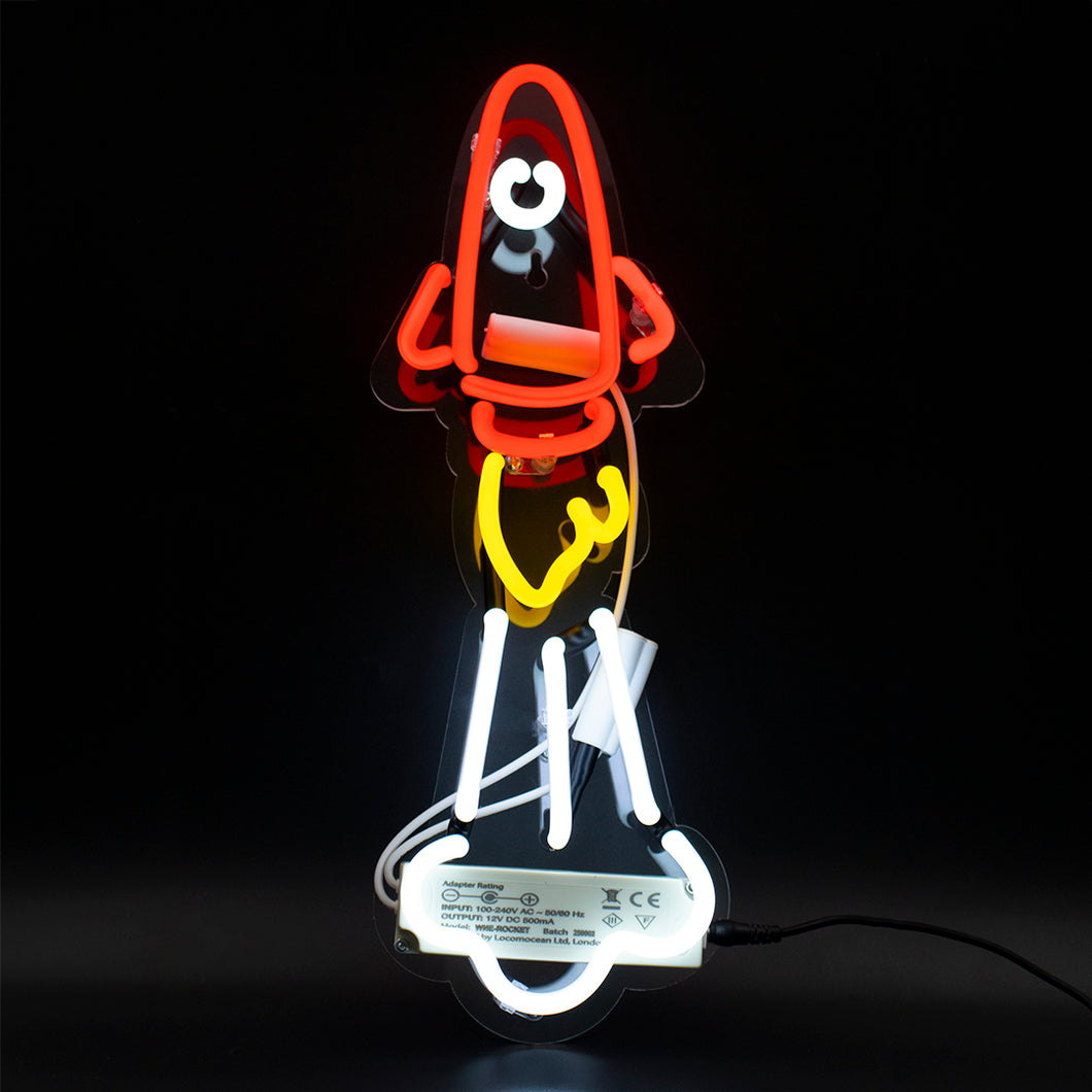 Locomocean Neon Wall Light  Rocket