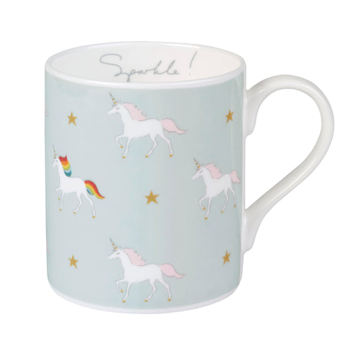 Sophie Allport Unicorn Mug Soft Blue