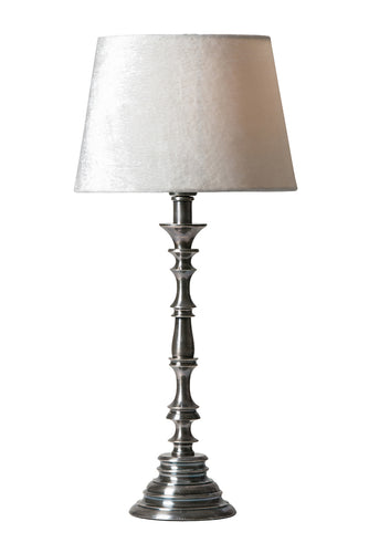 Watt & Veke Christian Table Lamp Tarnished Silver