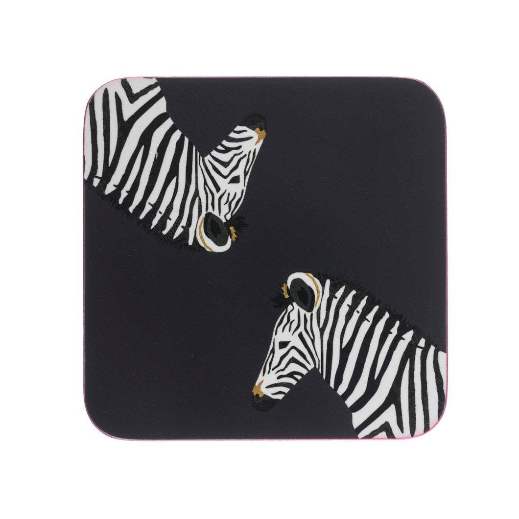 Sophie Allport Coasters Zebra ( Set of 4 )