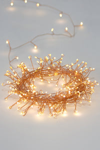 Cluster LED Fairy Lights Copper  ( Battery Operated)