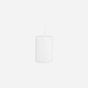 House Doctor Pillar Candle White 4X6CM