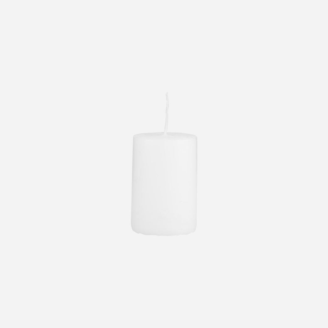 House Doctor Pillar Candle White 4CM X 6CM