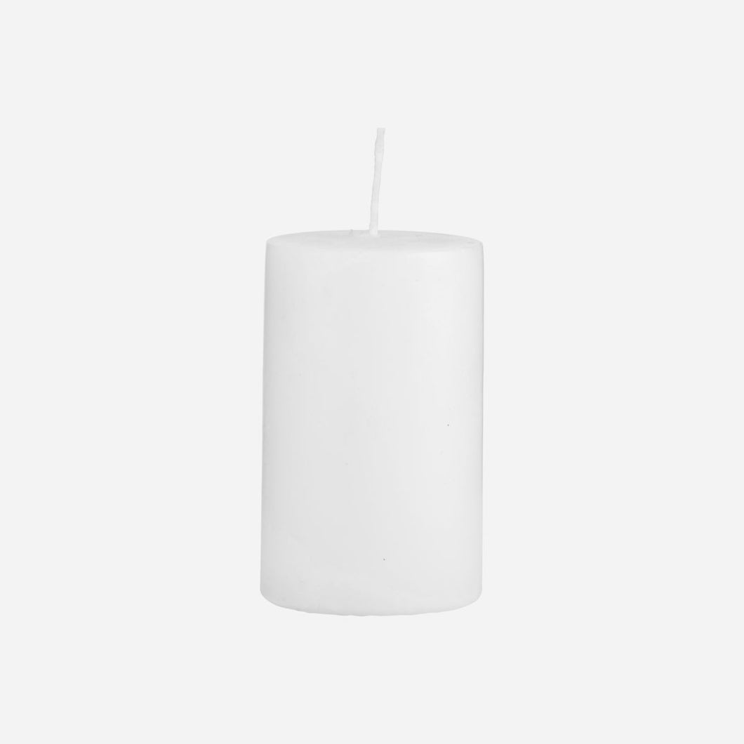 House Doctor Pillar Candle White 6CM X 10 CM