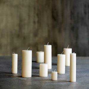 House Doctor Pillar Candle Off white  6CM X 15 CM