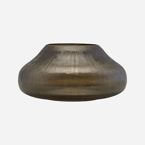 House Doctor Chub Candle Holder Brown