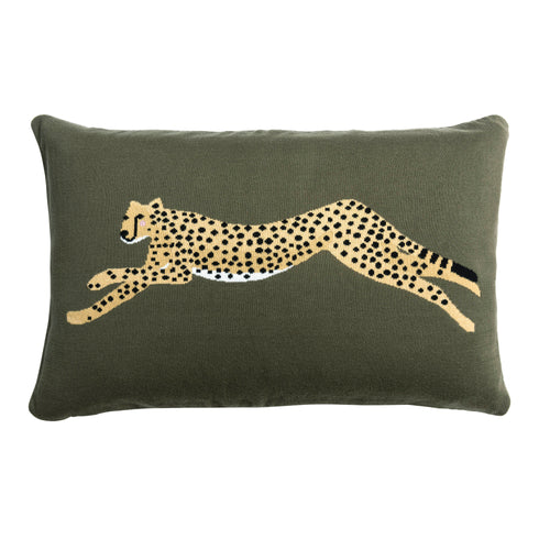 Sophie Allport Knitted  Cheetah Statement Cushion
