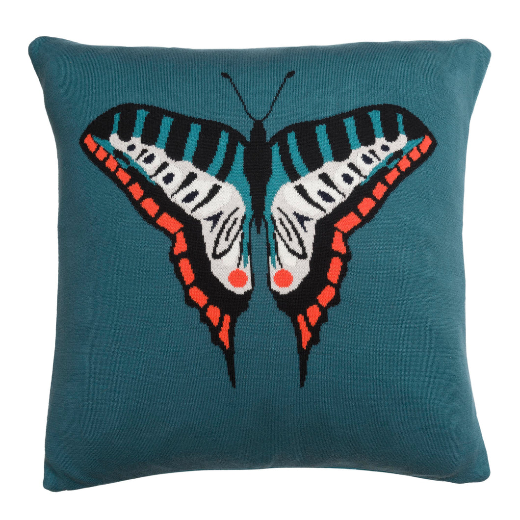 Sophie Allport Knitted Cushion Butterfly