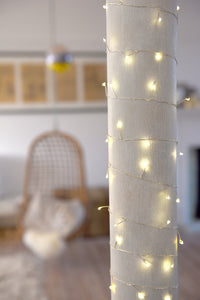 Cluster Fairy Lights Silver ( Mains Powered)