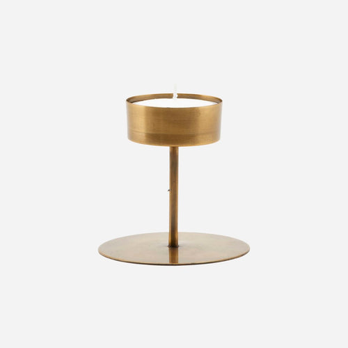 House Doctor Anit Candle Holder Antique Brass