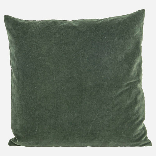 House Doctor Velvet Cushion BELUGA GREEN,