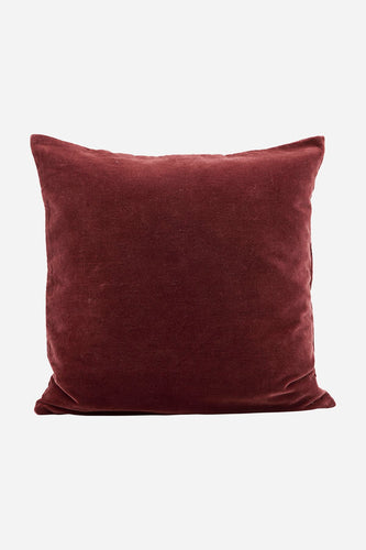 House Doctor Velvet Cushion Burnt Henna,