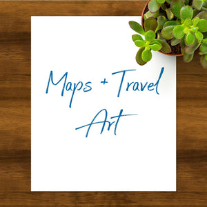 Maps + Travel Art-Collection-Blue Jay Bay