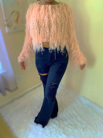 Shaggy chic sweater - shopfashboutique