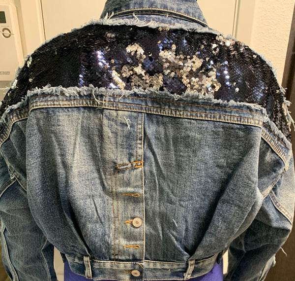 Sparkle Down | Denim jacket