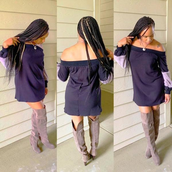 Off the shoulder tunic dress - shopfashboutique