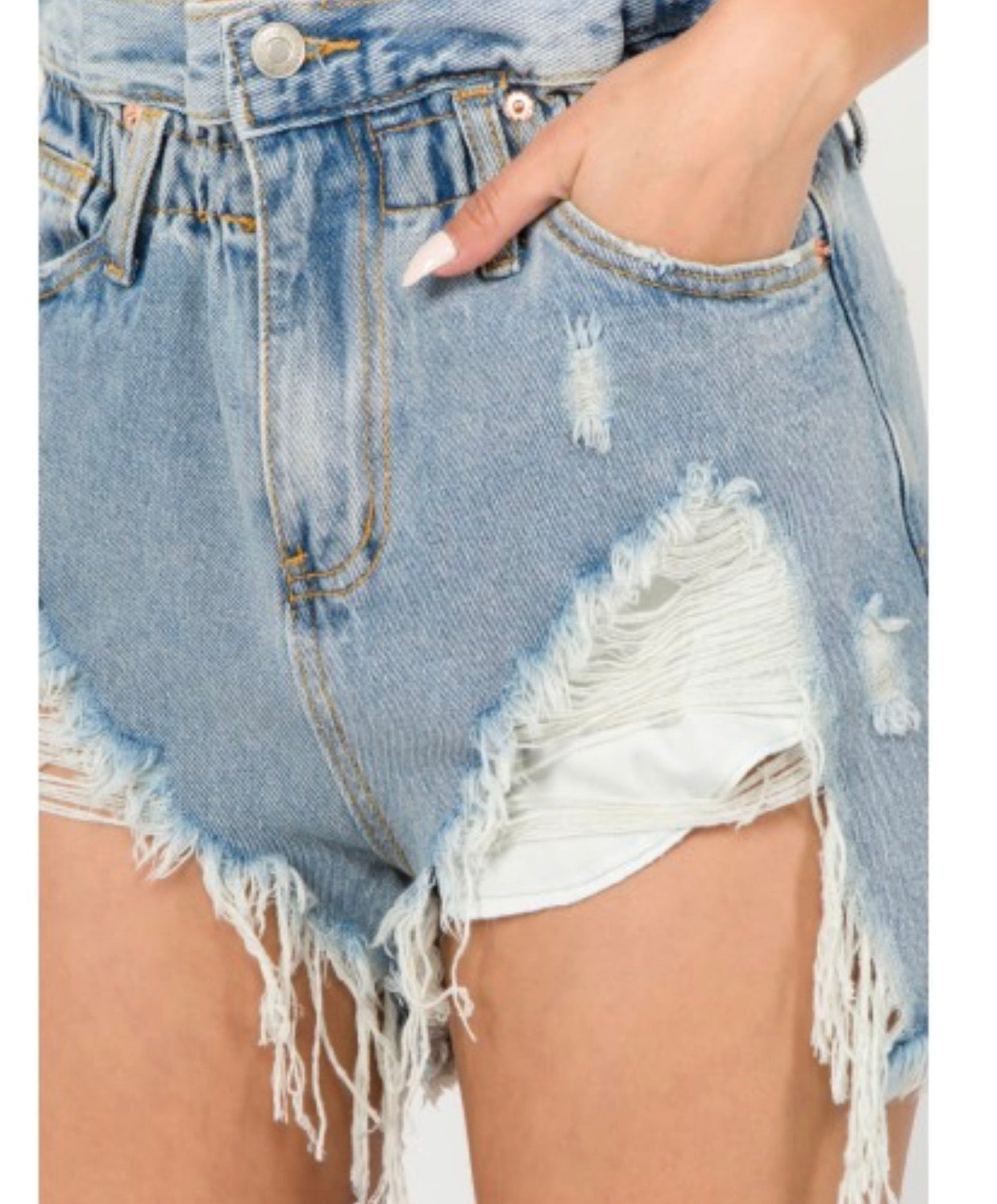 Paper Bag Denim | Shorts