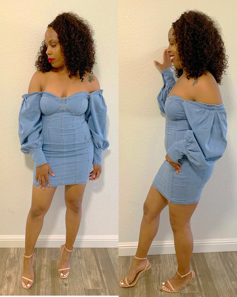For The Love Of Denim | Corset Dress