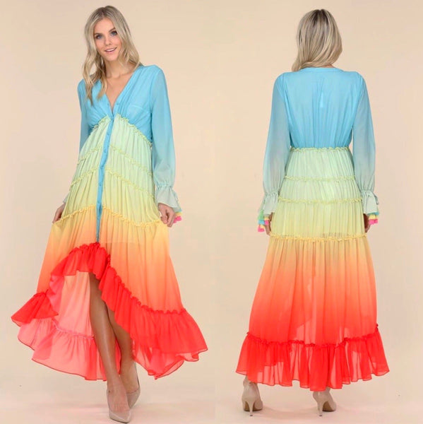 Rainbow Love |  Maxi Dress