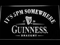 Guinness It's 5 pm Somewhere Bar LED Neon Sign