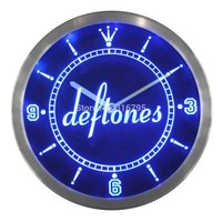 deftones Punk Muisc Bar Beer Neon Sign LED Wall Clock