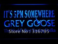 It's 5 pm Somewhere Grey Goose LED Neon Sign