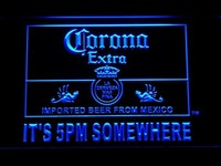 It's 5 pm Somewhere Corona Beer LED Neon Light Sign Man Cave 419-B