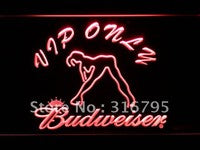 VIP Only Budweiser Sexy Dancer LED Neon Sign