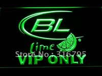 VIP Only Bud Lite Lime Beer LED Neon Sign
