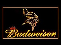 Minnesota Vikings Budweiser Neon Sign (Light. LED)