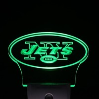 New York Jets Bar Sensor Led Night Light Sign