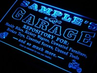 Name Personalized Custom Garage Basement Den Repair Neon Sign