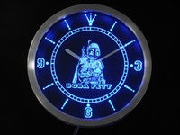 Boba Fett Star Wars Neon Sign LED Wall Clock