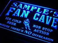 Name Personalized Custom Hockey Fan Cave Bar Beer Neon Sign